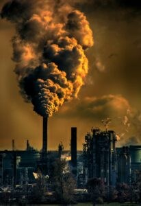 Emissions from industrial facility